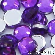 LOVELY VOILET PURPLE 3mm FLAT BACK LOOSE ROUND Gems Rhinestone x 500
