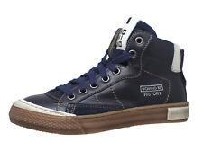 Momino 2123N coole Sneakers Chucks Leder Unisex Blau 31-40 Neu