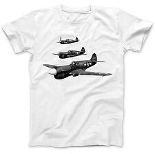 American P40 kittyhawks Camiseta 100% Algodón Premium Guerra Mundial Aeronave 2