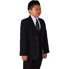 Quality 06 PCS 05 PCS Black Boy Suits Christening Formal Wedding Size 02-16