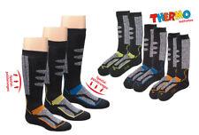2 Paar Thermo Kniestrümpfe Ski-Socken Skisocken Vollfrottee Kinder Gr. 23-42