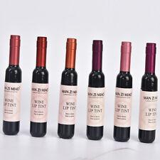 Red Wine Lip Tint Liquid Matte Lipstick Waterproof Design Wine Bottle Fashion#