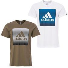 ADIDAS UOMO T-SHIRT QQR Faded SCATOLA maglietta cotone STREET LOGO XS-XXL NUOVO