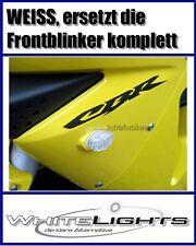 LED blancas intermitentes revestimiento Honda CBR/VTR 125/600/1000, Clear fairing signals