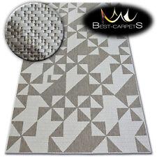 Moderne Sisal Tapis Floorlux Triangle-Practical Résistant et Durable Nettoyage