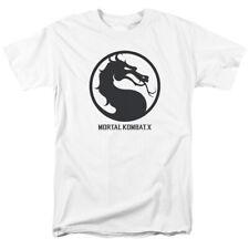 Mortal Kombat X Dragon Seal Game Logo Licensed Adult T Shirt