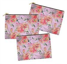 S4Sassy floral lot de 3 sacs à maquillage maquillage-FL-680J