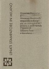 Giansisto Gasparini e Giuseppe Guerreschi. Acquarelli e disegni