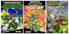 RGC Huge Poster- Teenage Mutant Ninja Turtles I II III Nintendo NES - TMNTSET