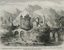 1859.Sentinelle sul castello Fiume Scrivia.Alessandria.