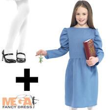 Matilda + Tights Girls Fancy Dress Roald Dahl World Book Day Kids Childs Costume