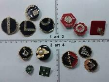 lotto bottoni gioiello smalti strass pietre murrine buttons boutons vintage g2