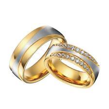 Verlobungsring Zirkonia weiß 750er Gold 18 Karat vergoldet  Damen Herren R2618S