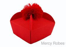 New Traditional 4-Winged RED BIRETTA, Clergy Priest Hat, Catholic Vestment