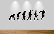 Runner Evolution Wall Sticker Decal Bedroom Art Running Evo Ape to Man