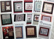 * Kingsland Cross Stitch Charts Samplers Victorian YOU CHOOSE