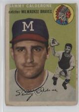 1954 Topps #68 Sammy Calderone Milwaukee Braves Sam Baseball Card