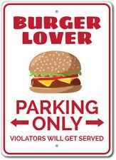 Burger Lover Sign, Burger Lover Gift, Burger Parking Sign ENSA1002901