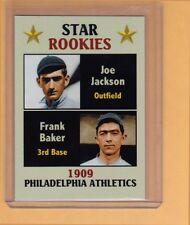 Shoeless Joe Jackson & Home Run Baker 1909 Rookie Stars Fan Club serial # /300