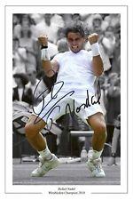 Rafa Nadal 2010 campeón de Wimbledon Tennis impresión firmada