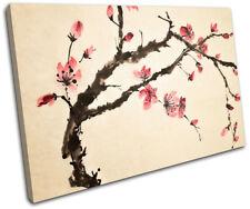 Cherry Blossom Tree Flowers Floral SINGLE DOEK WALL ART foto afdrukken