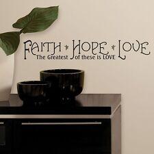 FAITH ~ HOPE ~ LOVE ~ Wall or Window Decal