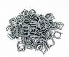 100x Metallschnallen Klemmen Phosphatiert für Umreifungsband 13 16 19 25 mm
