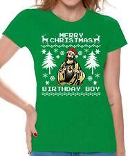 Merry Christmas Birthday Boy Tshirt Women's Jesus Christmas Shirt Xmas Shirt