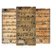 HEAD CASE DESIGNS MUSIC SHEETS SOFT GEL CASE FOR BLACKBERRY PHONES