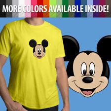Mickey Mouse Face Head Classic Disney Disneyland Unisex Mens Tee Crew T-Shirt