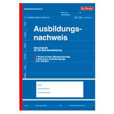 RESTPOSTEN - herlitz Berichtsheft Ausbildungsnachweis A4 28 Blatt 1 Woche/Seite