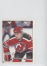 1983-84 O-Pee-Chee Album Stickers #186 Jeff Larmer New Jersey Devils Hockey Card