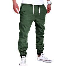 Harem Chino-Jogger Mens Jogg-Jeans pantalon jogging kaki NEUF