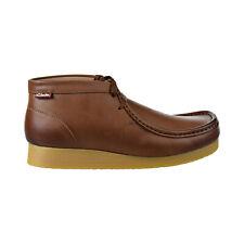 Clarks Stinson Hi Men's Shoes Dark Tan Leather 26129528