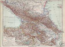 KAUKASIEN Kaukasus Georgien Armenien LANDKARTE 1906 Aserbaidschan Dagestan