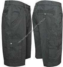 "Mens 100% Cotton Ripstop Cargo Combat Shorts 6 Pockets Zip Fly Pants 32""- 44"""