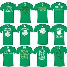 St Patricks Day shirt Shamrock Clover Paddy's Irish Unisex Men T-Shirt Green Tee