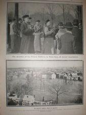 Printed photo flood Paterson New Jersey USA 1902
