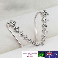 Elegant Womens 18K Silver Gold Ear Hook Crystal Earrings Party Jewelry ##5-11