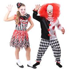 CHILD EVIL KILLER CLOWN COSTUME BOYS GIRLS HORROR SLASHER HALLOWEEN FANCY DRESS
