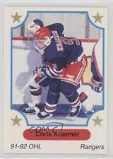 1991-92 7th Inning Sketch OHL #78 Chris Kraemer Rookie Hockey Card