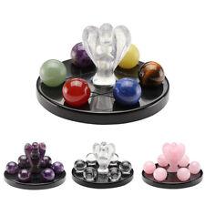 Natural Gemstone Balls Quartz Crystal Angel Stone Ornament Set Healing Decor