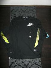 Nike Flicker Drifit Hombre Run Jogging Camisa Manga Larga Black Yellow Talla, M,