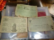 Ancienne Quittance d Electricité 1927 29 Pub Ancien Electro-ménager Ventinateur