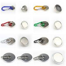 Carabina imanes neodimio de colores d28 hasta d60 mm aluminio gancho de acero inoxidable -100 kg