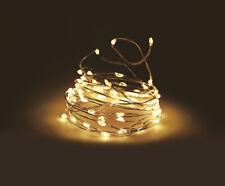 Draht Lichterkette warmweiß - 100 oder 320 LED - Mikro Lichterkette Leuchtdraht