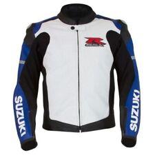 SUZUKI GSXR Motorbike Leather Jacket Motorcycle Leather Jacket CE ARMOUR