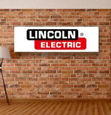 Lincoln Electric Vinyl Banner Sign Garage Workshop Adversting Poster