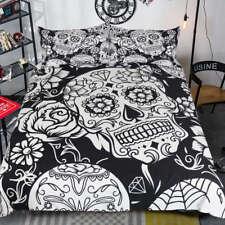 Nice Flower Diamond Skull 3D Digital Print Bedding Duvet Quilt Cover Pillowcase