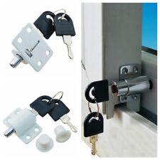 Child Security Zinc Alloy Sliding Door Patio Window Bolt Locking Catch Push Lock